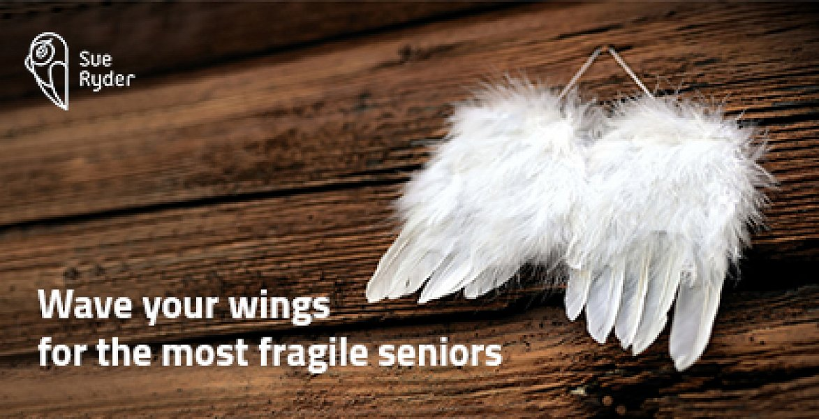 Hanging your wings up on a wall is easy. But we believe you have the stregth and desire to fly together with us alongside the most fragile of old people.